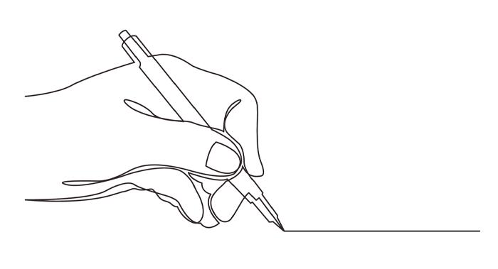 線画イラストオリジナル席札