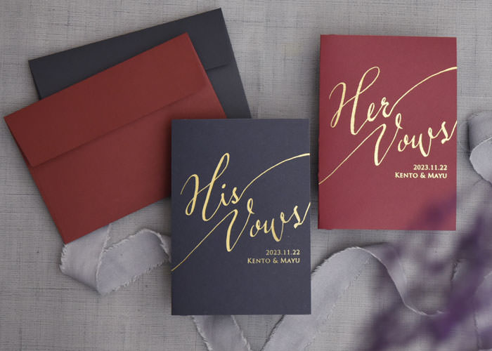 Wedding vow booksオリジナル結婚証明書