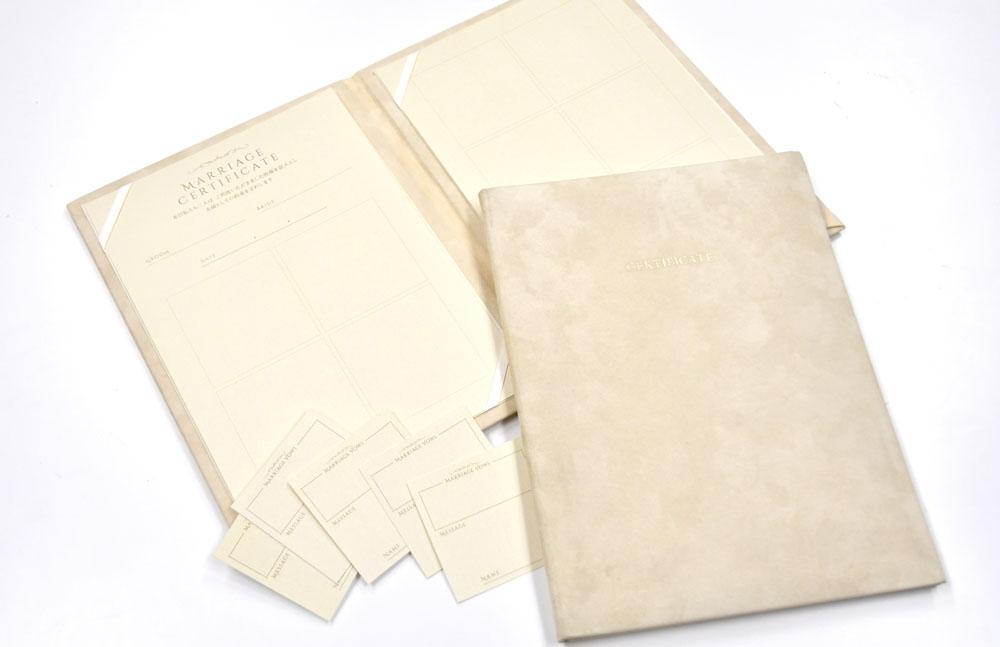 オリジナル実例ゲストに誓いの言葉を決めてもらう想いのつまった結婚証明書