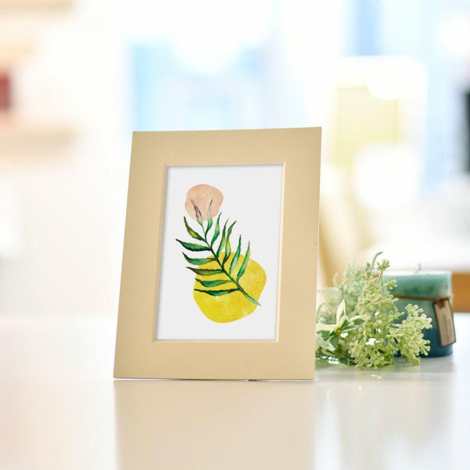 ファルベのインテリアポスターで販売中のポストカード「leaf of hope」