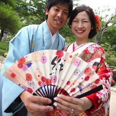 扇子型結婚証明書「紫音(しおん)」
