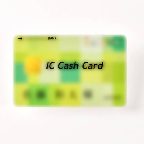 銀行員の方のキャッシュカード型席札