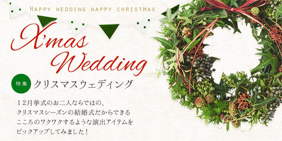 クリスマステーマのウェディング特集