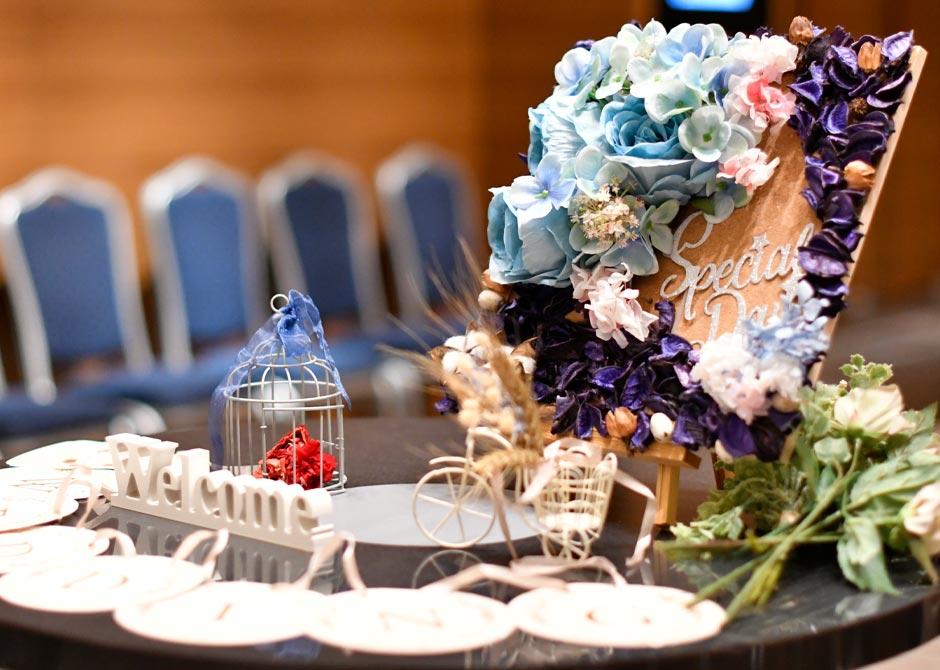 シンデレラをテーマにした結婚式のおしゃれなウェルカムスペース