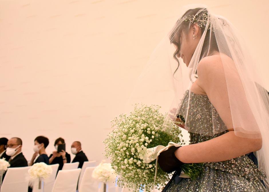 徹底した感染対策がなされている結婚式会場