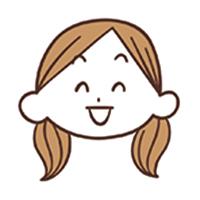 笑顔の女性のイラスト