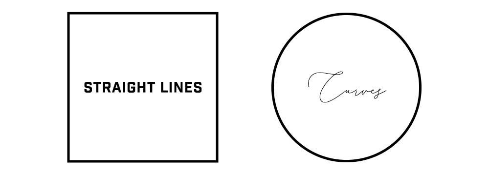 直線と曲線イメージ