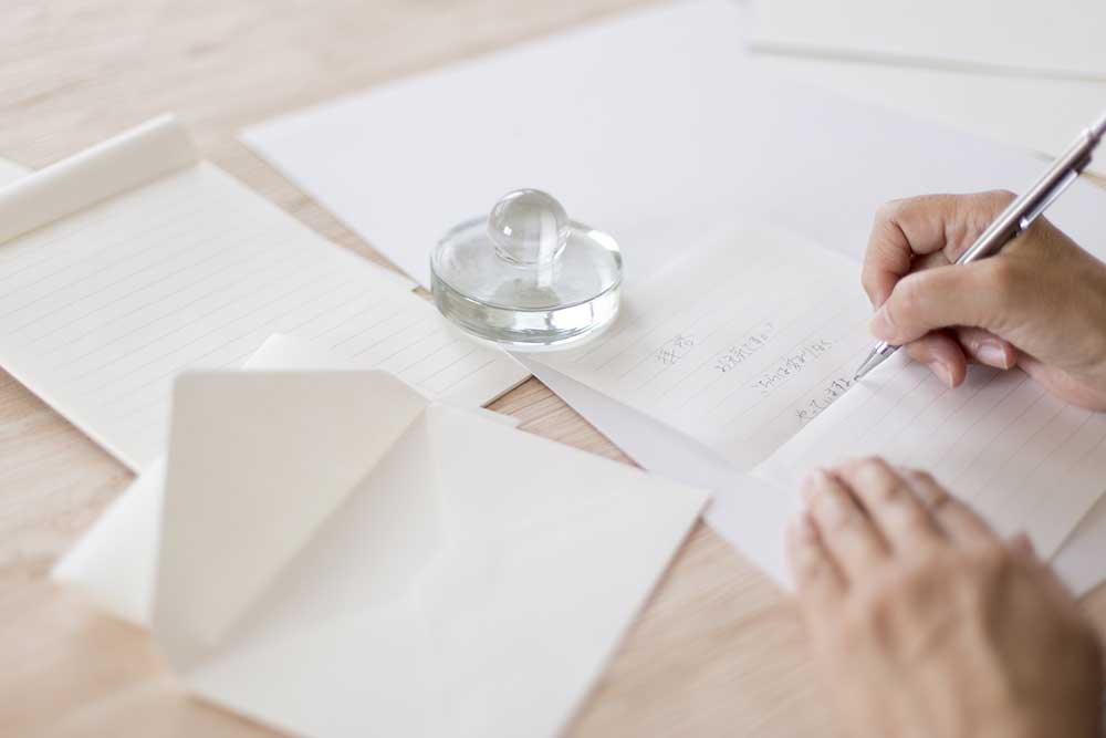 レターセットに手紙を書く