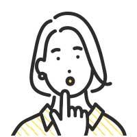考えるボブカットの女性イラスト