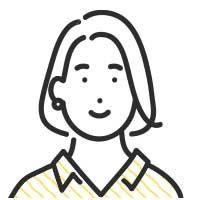 微笑むボブカットの女性イラスト