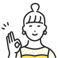 OKポーズのお団子頭の女性イラスト