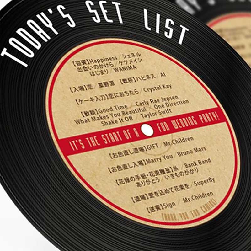 レコードデザインのセットリスト