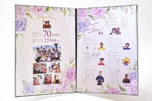 喜寿祝い♡母に贈るメモリアルブック