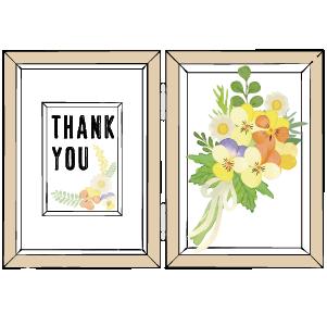 結婚式の両親プレゼントの子育て感謝状