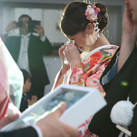 結婚式感動シーン