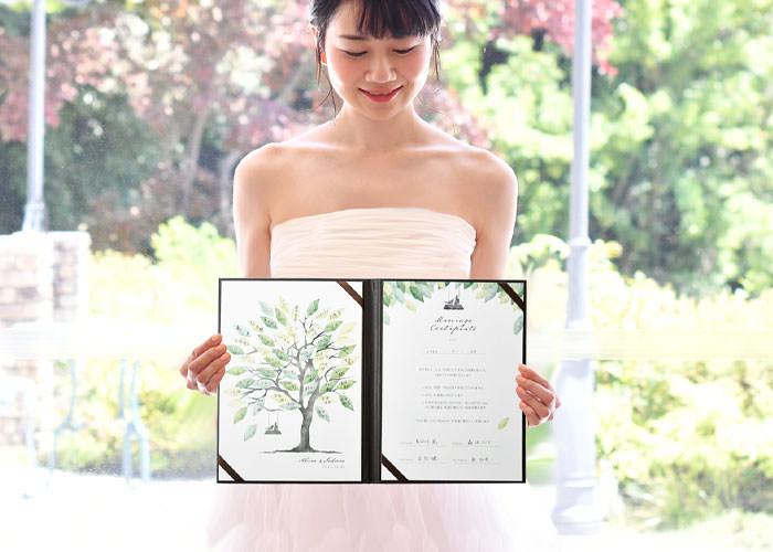 ゲスト参加型サイン式結婚証明書ウェディングツリー