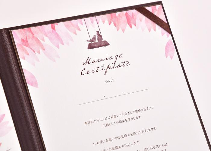ゲスト参加型結婚証明書ご注文の流れ