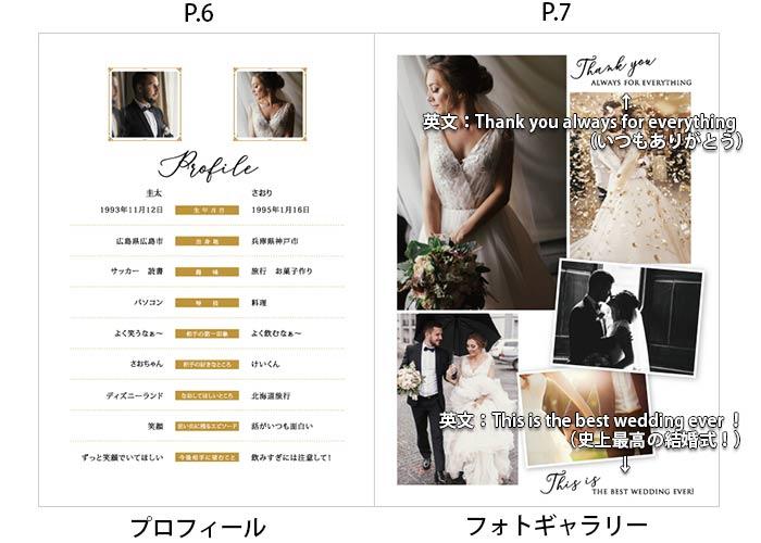 プロフィールブックP6プロフィールP7フォトギャラリー