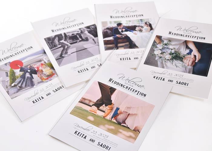 写真がたくさん入る席次表付きプロフィールブック