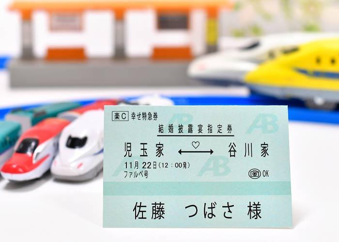 新幹線チケット風席札イメージ