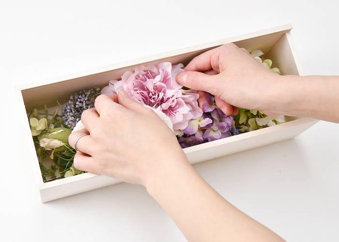 お花を追加してお部屋に飾っても素敵