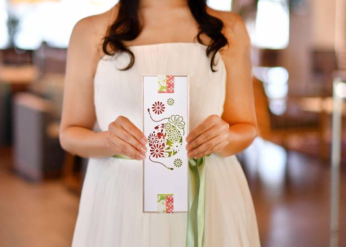 メッセージカード付夫婦箸&箸置きセットサイズ感