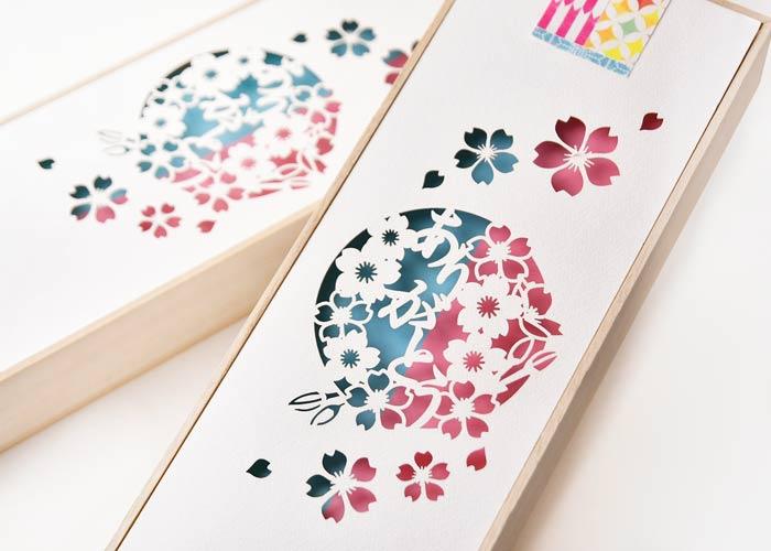 メッセージカード付夫婦箸&箸置きセットレーザーカットデザインアップ