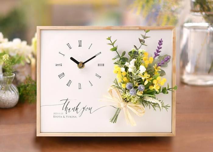 花時計「クロックブーケ」/結婚式両親プレゼント