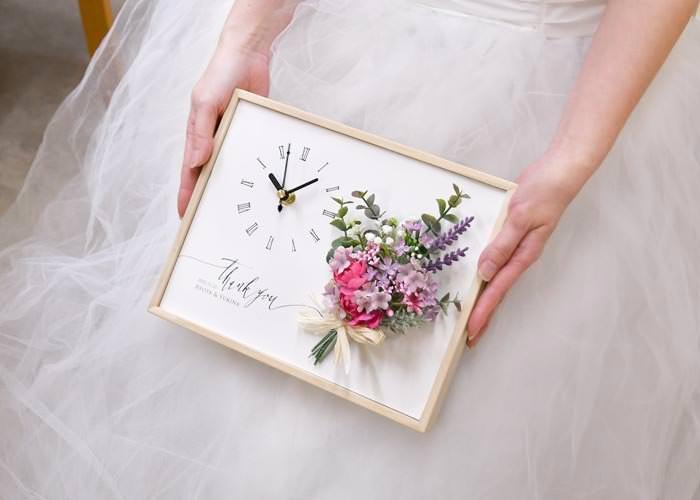 花嫁が手に持ったところ