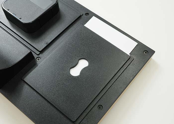 オルゴールメッセージカード付時計裏面