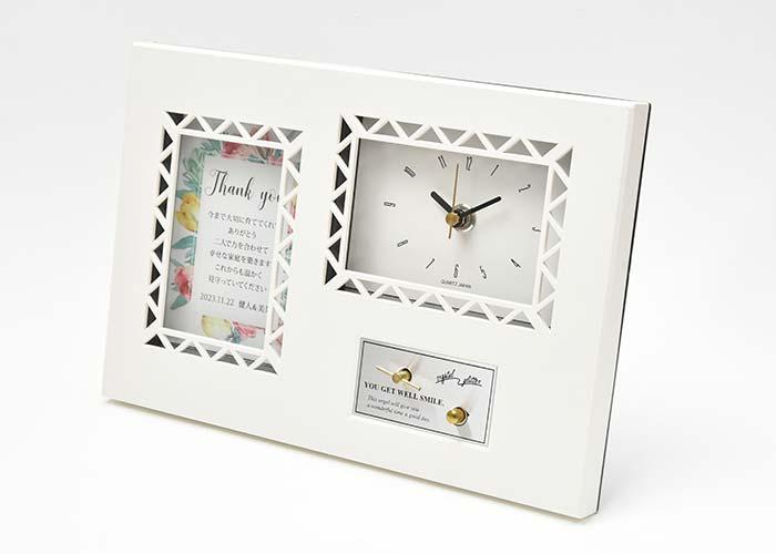 オルゴールメッセージカード付時計「チューリップ」のデザイン
