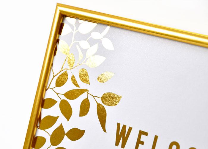 金箔のウェルカムボード