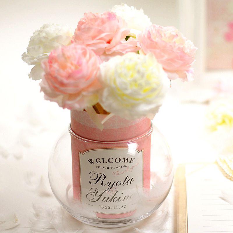 淡いピンクが可愛い!フラワー受付ペンプリュム