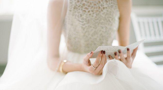きちんと伝わる花嫁の手紙の書き方&読み方