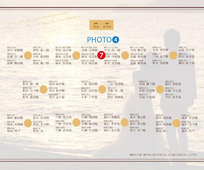 写真入り席次表