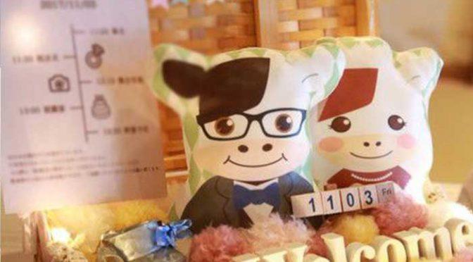 ≪卒花さんの結婚式レポ≫オリジナルキャラクターでDIY♡優しい雰囲気のアットホームウェディング