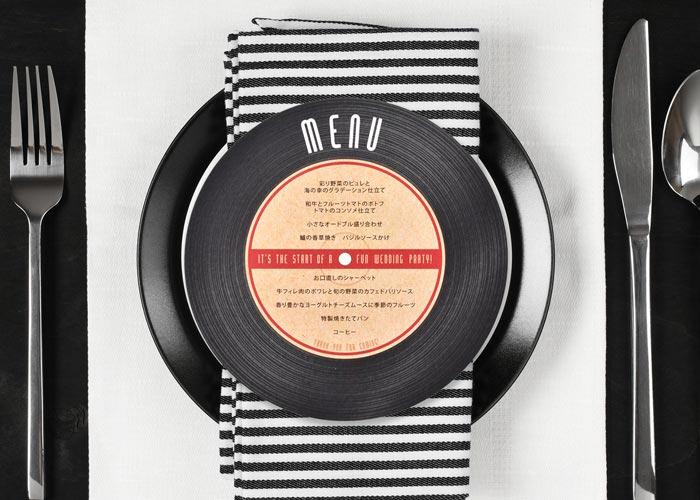 メニュー表「レコード」