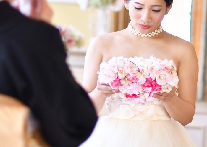 花嫁の手紙木製レーザー刻印「ハートフラワー」