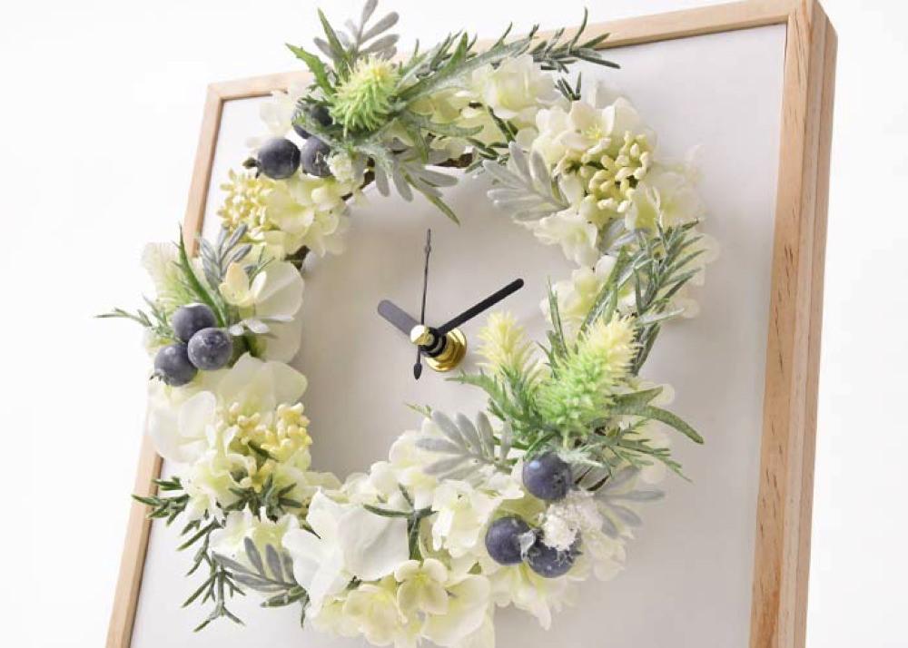 時計とお花の融合ギフト