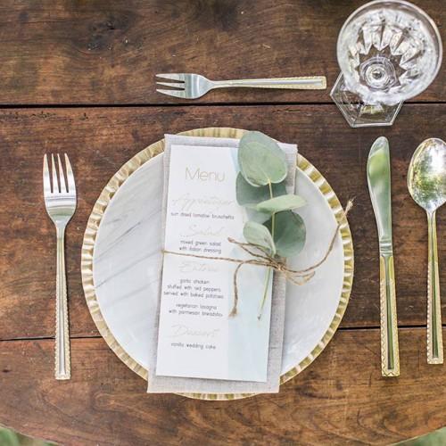 結婚式のメニュー表