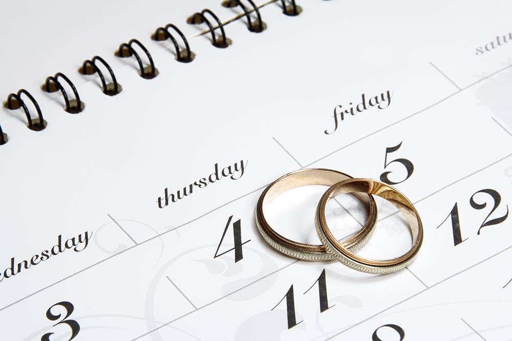 結婚式の日取り