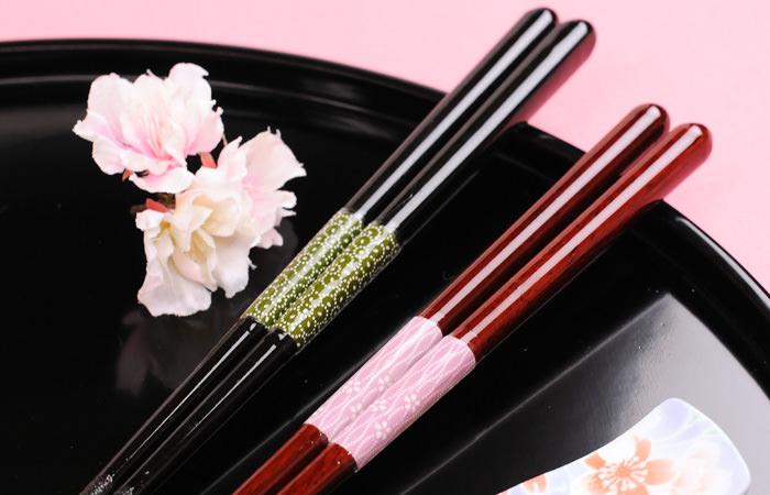 感謝箸&夫婦箸置きセット「桜華(おうか)」