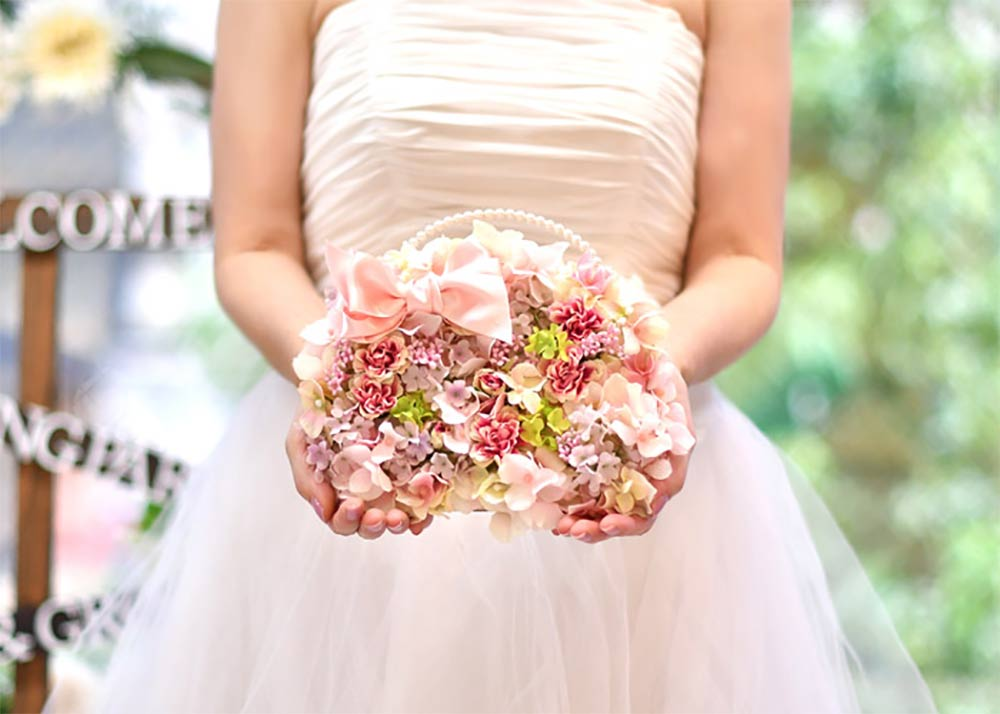 花嫁の手紙/木製レーザー刻印「バッグブーケ」