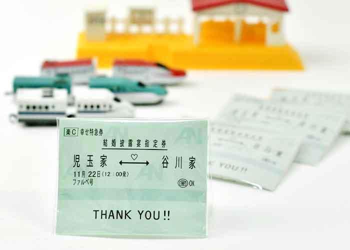 新幹線チケット風プチギフト