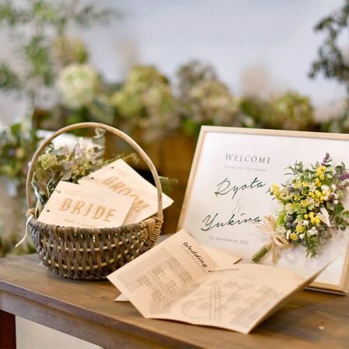 結婚式の受付