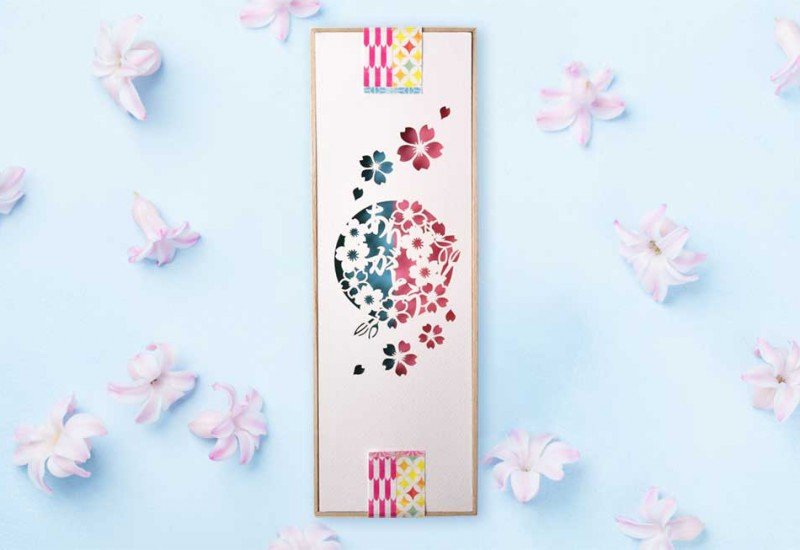 夫婦箸&箸置きセット「桜」