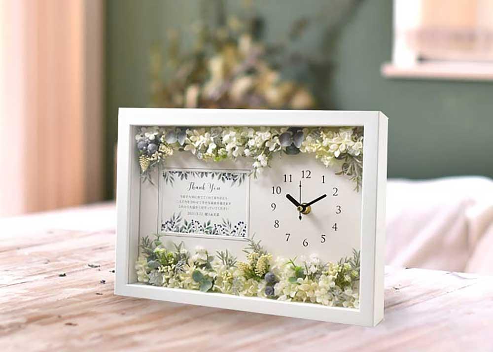 メッセージ付花時計「Caren カレン」