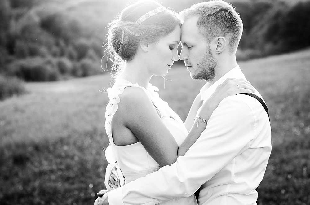 結婚式モノクロ写真