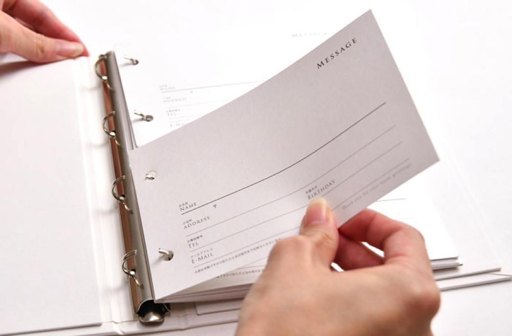 記帳してもらったものをファイルにイン