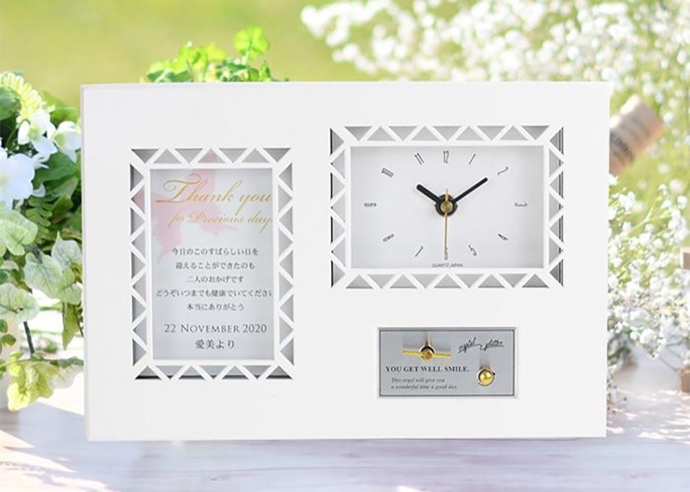 サンクスオルゴール(時計)「バタフライ」/両親へのプレゼント